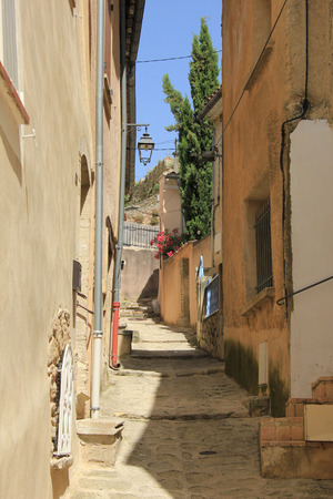 Street view of the Village of Bedoin, France photo