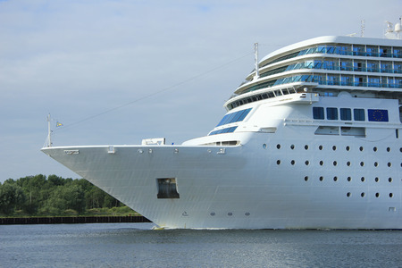 ship bow: Bow of a middle sized cruise ship Stock Photo