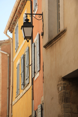 Facade detail of a traditional Provencal house Stock Photo