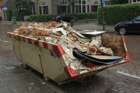 Loaded rubbish near a construction site, home renovation