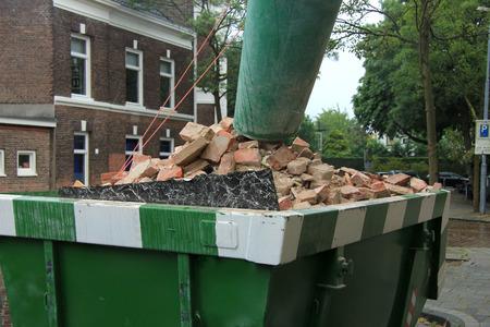 Loaded rubbish near a construction site, home renovation photo