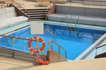 savety: Swimming pool area at a cruise ship