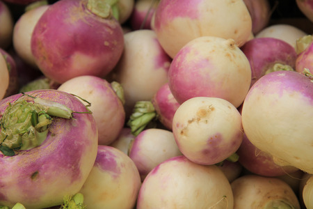 Turnips at a French market stall photo