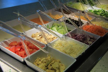 nutricion: A colourful salad buffet in a restaurant