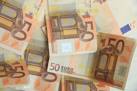 billets euro: 50 billets en euros Banque d'images