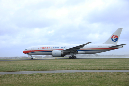 polderbaan: March, 27th 2015, Amsterdam Schiphol Airport B-2078 China Cargo Airlines Boeing 777F   Polderbaan Runway