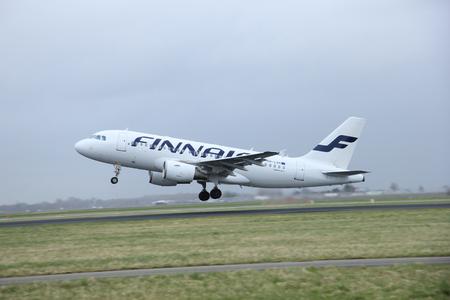 schiphol: March, 27th 2015, Amsterdam Schiphol Airport  OH-LVH Finnair Airbus A319-100  Polderbaan Runway