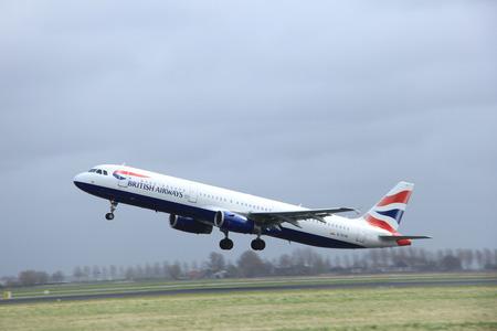 polderbaan: March, 27th 2015, Amsterdam Schiphol Airport G-EUXK British Airways Airbus A321-231  Polderbaan Runway