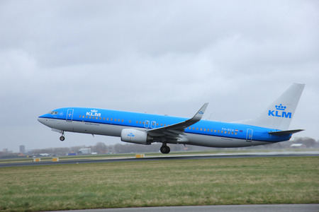 schiphol: March, 27th 2015, Amsterdam Schiphol Airport PH-BCA KLM Royal Dutch Airlines Boeing 737-800    Polderbaan Runway