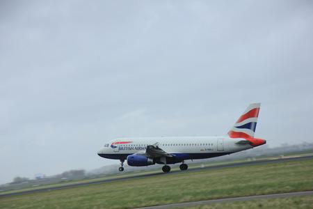 polderbaan: March, 27th 2015, Amsterdam Schiphol Airport  G-DBCJ British Airways Airbus A319-131  Polderbaan Runway