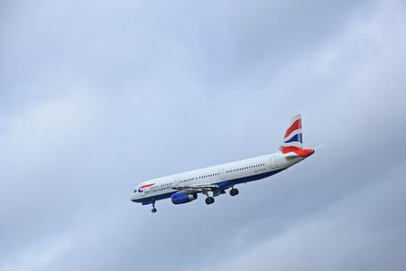 airways: March, 27th 2015, Amsterdam Schiphol Airport G-EUXK British Airways Airbus A321-231  Polderbaan Runway