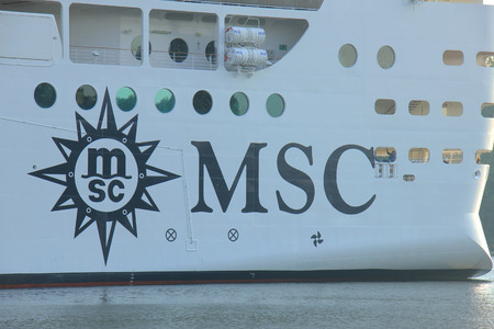 owned: Velsen, The Netherlands - July 2nd, 2015: MSC Splendida a cruise ship owned and operated by MSC Cruises. It is 1,093.5 ft (333.30 m) long