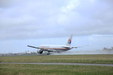 polderbaan: March, 27th 2015, Amsterdam Schiphol Airport B-2078 China Cargo Airlines Boeing 777F   Polderbaan Runway