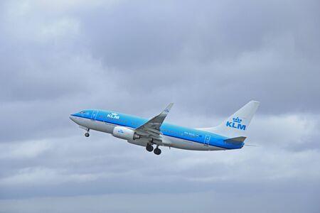 schiphol: March, 27th 2015, Amsterdam Schiphol Airport PH-BGQ KLM Royal Dutch Airlines Boeing 737-700  Polderbaan Runway