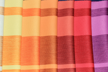 samples: Fabric swatches in an interior decoration shop
