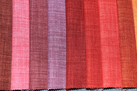 swatches: Fabric swatches in an interior decoration shop