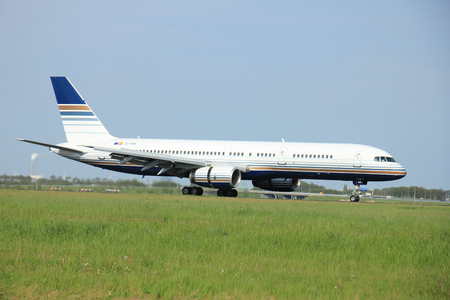 privilege: May,11th 2015,  Amsterdam the Netherlands:   EC-HDS Privilege Style Boeing 757-200 on the Polderbaan runway of Amsterdam Schiphol Airport. Privilege Style is a charter airline founded 2003. Its main base is Madrid Editorial