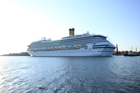 fortuna: Velsen, The Netherlands - June 11, 2015: Costa Fortuna  Costa Fortuna is a cruise ship, owned and operated by Costa Crociere, built by Fincantieri Marghera shipyard in 2003. Its 273 m (896 ft) long.