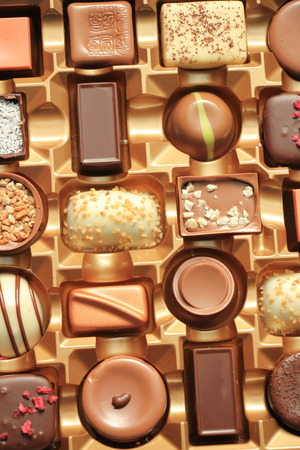 luxurious: Luxurious Chocolates in various shapes and flavors in a gift box