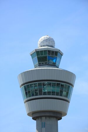 control tower: Airtraffic control tower at an international airport