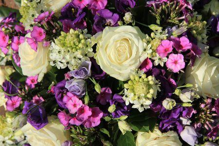 Purple and white wedding flower arrangement stock photo picture and purple and white wedding flower arrangement stock photo 60204962 mightylinksfo
