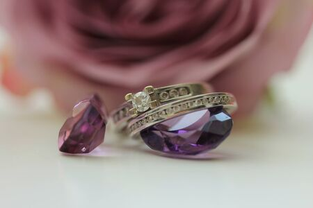 Engagement rings and Amethyst