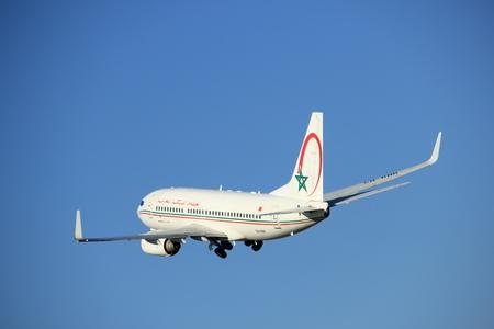 maroc: Amsterdam, the Netherlands  - August, 18th 2016: CN-RNR Royal Air Maroc Boeing 737-7B6,  taking off from Polderbaan Runway Amsterdam Airport Schiphol