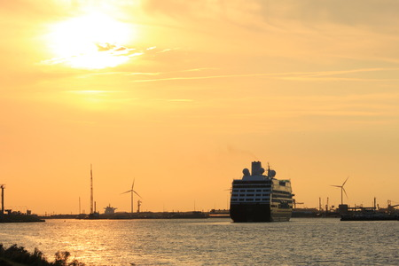 Velsen, The Netherlands - August, 27th 2016: Azamara Quest a cruise ship owned and operated by Azamara Club Cruises on North Sea Canal Editorial