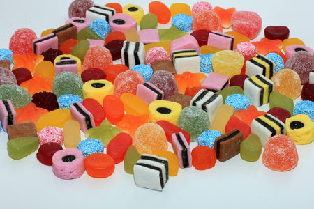liquorice: Candy in different shapes, colors and sizes