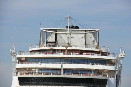 ijmuiden: IJmuiden, the Netherlands -April 30th, 2017:   Aida Sol at the Felison Cruise Terminal IJmuiden, detail of ship