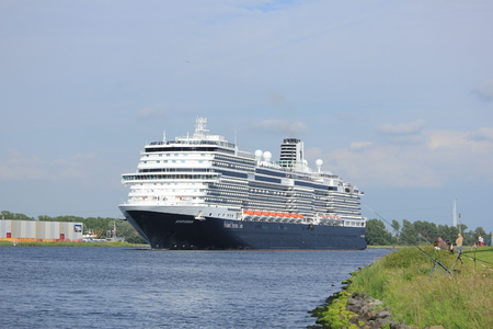 Velsen, the Netherlands -  June, 19th 2016: MS Koningsdam. MS Koningsdam is a cruise ship operated by Holland America Line. It was cristened on may 29th 2016 in Rotterdam.
