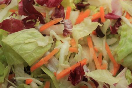 carot: Fresh green mixed salad with sliced carots