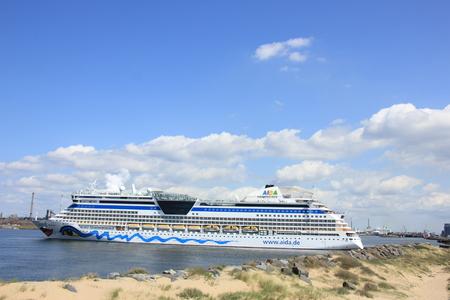 ijmuiden: IJmuiden, the Netherlands -April 29th, 2017:   Aida Luna docked at Felison Cruise Terminal IJmuiden