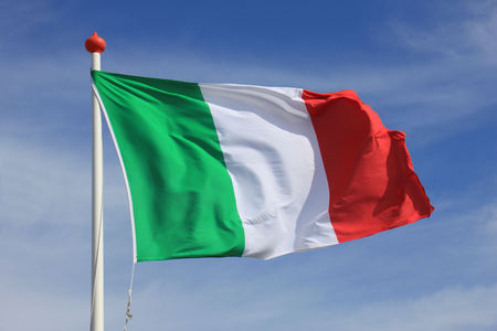 Italian Flag in red, white and green