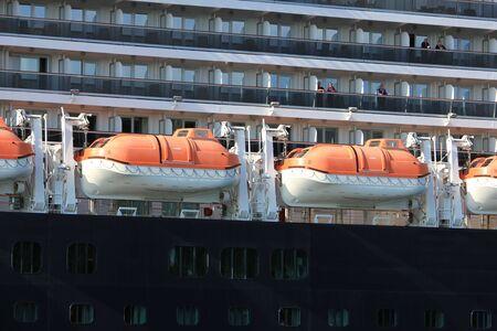 Velsen, the Netherlands - May, 21st 2017: MS Koningsdam, detail of safety vessel