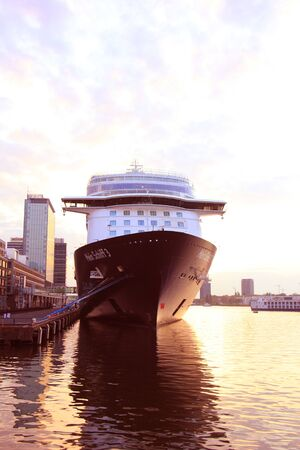 Amsterdam, The Netherlands - May 11th 2017: Mein Schiff 3 TUI Cruises docked at Passenger Terminal Amsterdam