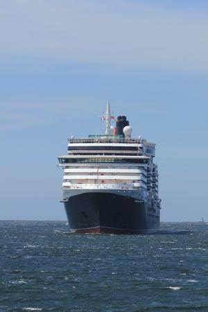 ijmuiden: IJmuiden, The Netherlands - June 5th 2017: Queen Victoria, Cunard on North Sea Channel towards North Sea Lock in IJmuiden