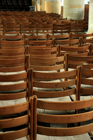 church chairs simple wooden chairs in a dutch reformed church editorial