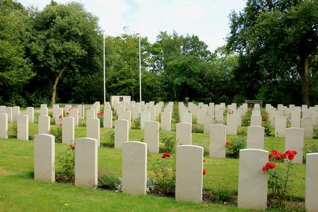 Memorial world war II cemetery in the Netherlands