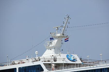 Velsen, The Netherlands - June 21st 2017: Azamara Journey on North Sea Channel towards IJmuiden sea lock