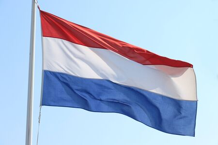 Flag of the Netherlands in red, white and blue
