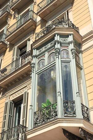 Barcelona, Spain - september 29th, 2019: Facades in Passeig de Gracia, major avenue in Barcelona in Catalan modernism, Spanish version of Jugendstil, about 1895-1910 Redakční
