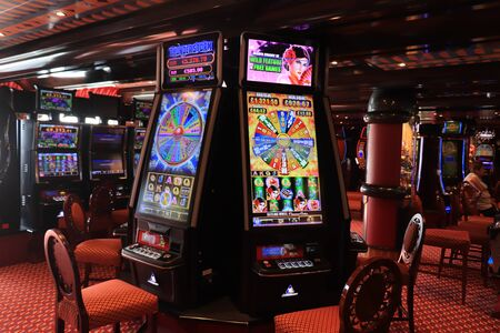 Barcelona, Spain - September, 24th 2019: Costa Magica Casino interior