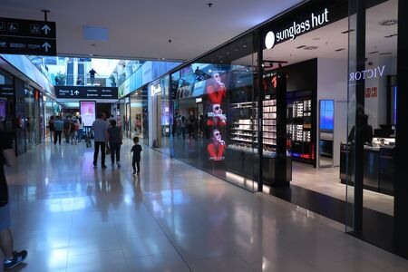 Barcelona, Spain - september 29th 2019: sunglass hut shop in Maremagnum shopping mall in Barcelona. Sunglass Hut is an international retailer of sunglasses, founded in 1971, Miami