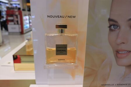 Amsterdam Schiphol Airport, the Netherlands - september 24th, 2019: Gabrielle Chanel perfume in an airport shopping area store