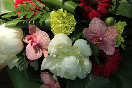 Exclusive wedding flower arrangement: Orchids and peonies