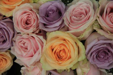 Big pastel wedding rose arrangement
