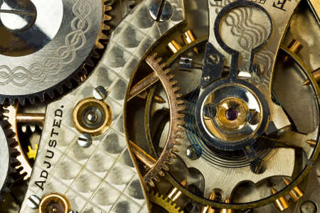 clockworks: Watch works macro shot Stock Photo