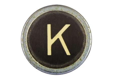 Vintage typewriter letter K isolated on white Stock Photo - 10567128