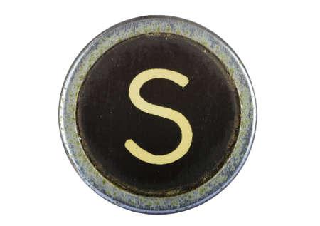 Vintage typewriter letter S isolated on white Stock Photo - 10567108